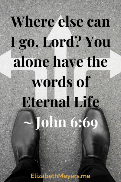 Where else can I go, Lord? You alone have the words of Eternal Life. John 6:69