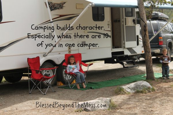 Camping builds character
