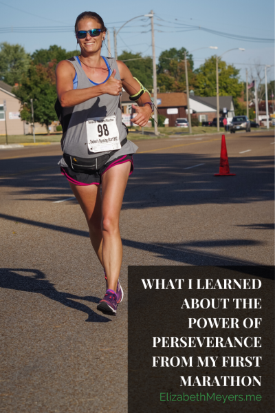 What I learned about the power of perseverance from my first marathon
